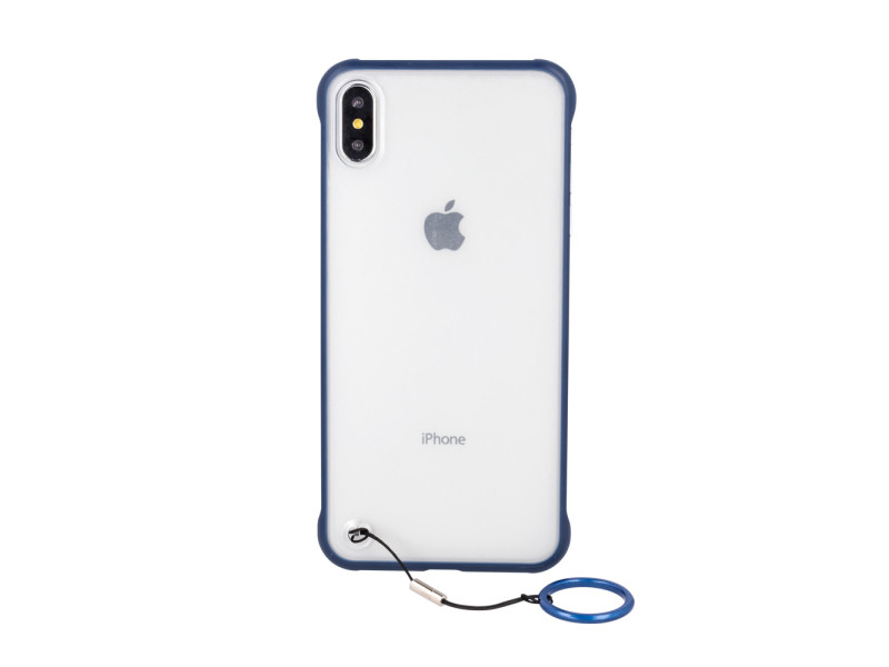Frameless case for iPhone XS Max navy blue