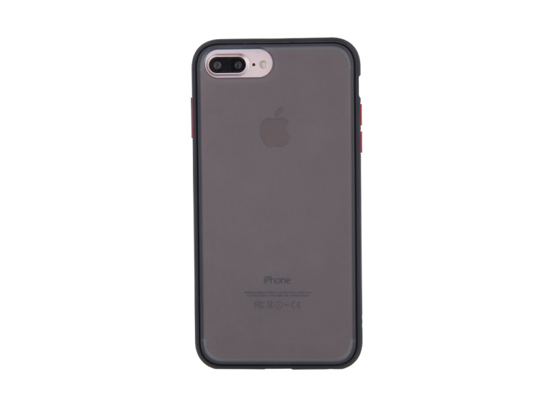 Colored Buttons case for iPhone XR black