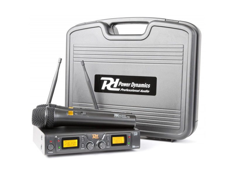 Power Dynamics PD782 Wireless Microphone System UHF 2x 8-Channel Microphones