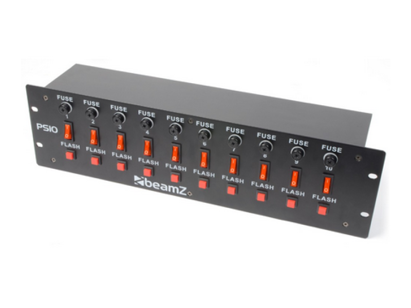BeamZ PS10 Switch Panel 10-Channel + Flash Button