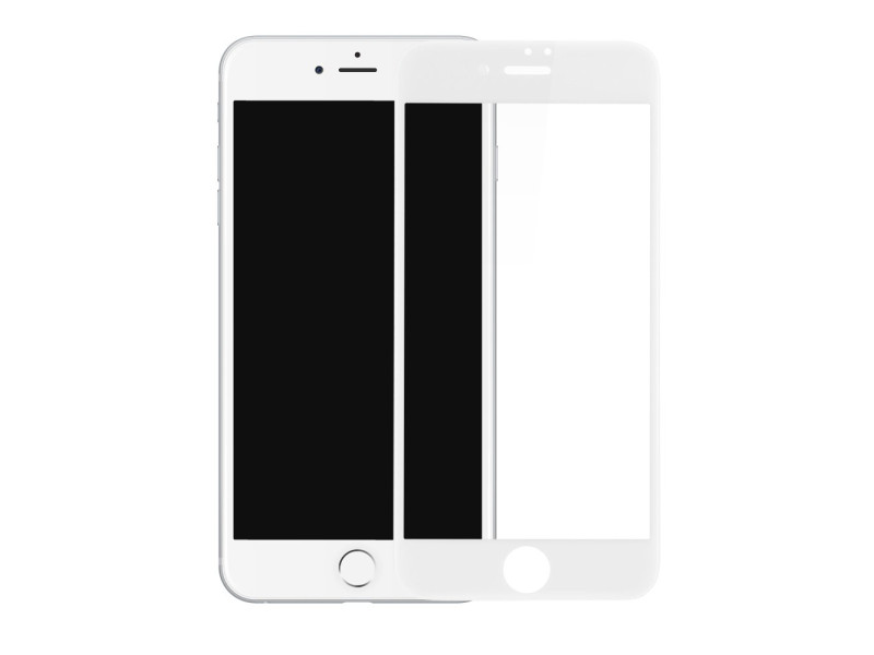 Baseus PET Soft 3D Tempered Glass Film Full Screen Protector with PET Rim for iPhone 8 / 7 0,23 mm white (SGAPIPH8N-PE02)