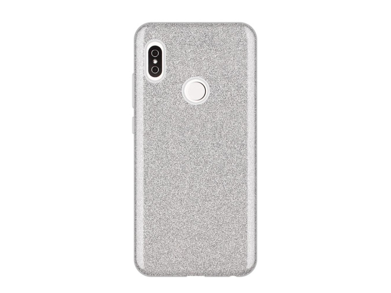 Wozinsky Glitter Case Shining Cover for Xiaomi Redmi Note 5 (dual camera) / Redmi Note 5 Pro silve