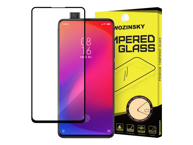 Wozinsky Tempered Glass Full Glue Super Tough Screen Protector Full Coveraged with Frame Case Friendly for Xiaomi Mi 9T Pro / Mi 9T black