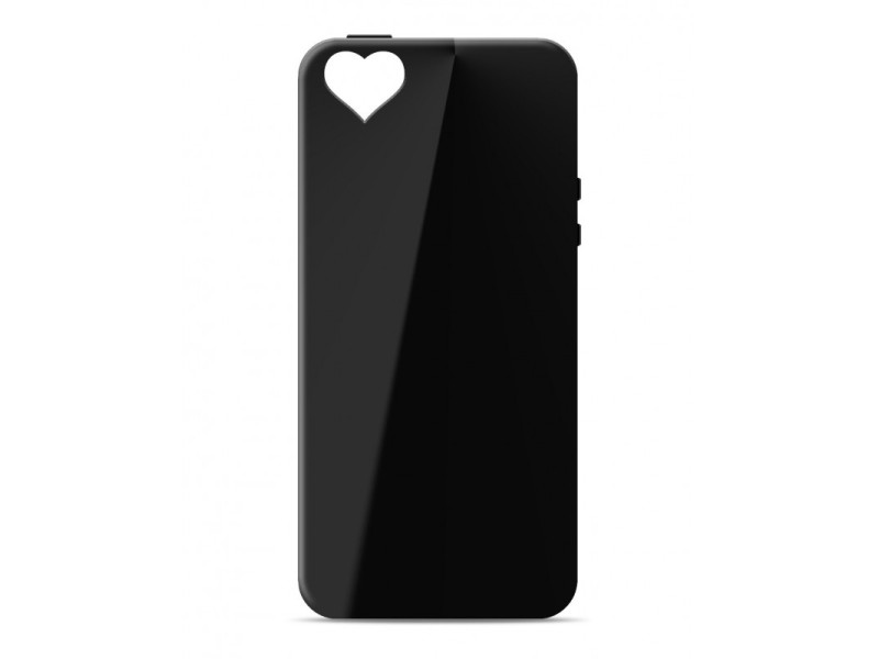CASE OVERLAY Camera Heart για IPHONE 6 PLUS Black