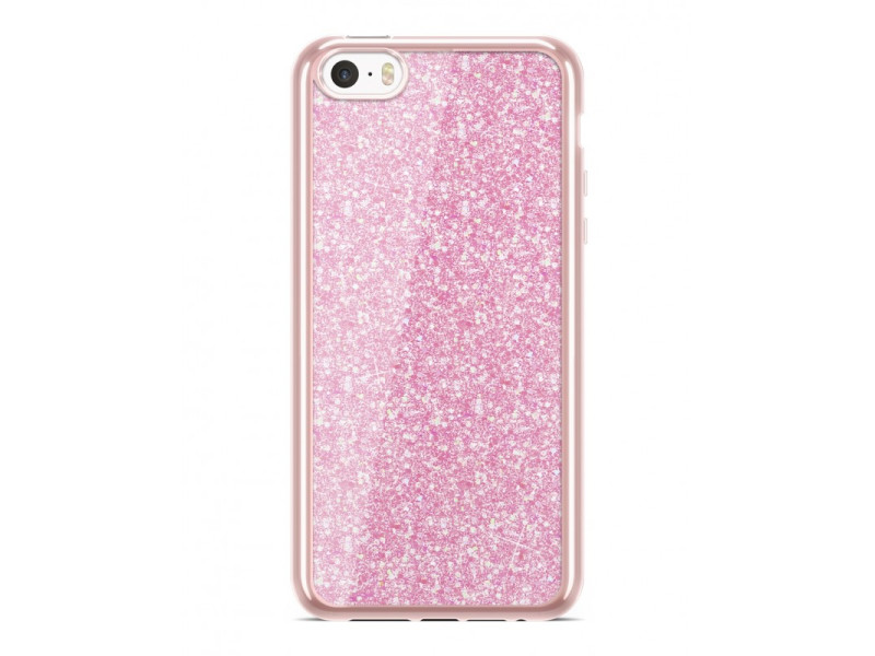 Electro Glitter case για HUAWEI P20 rosegold