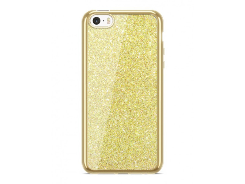 Overlay Case Electro Glitter για SAMSUNG S6 EDGE Gold