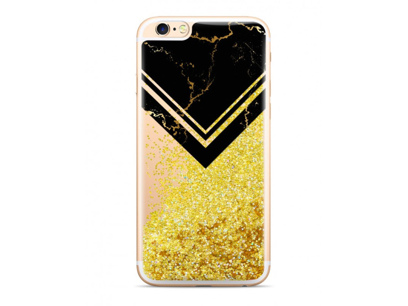 CASE OVERLAY LIQUID GLITTER Marbled για SAMSUNG J7 Black