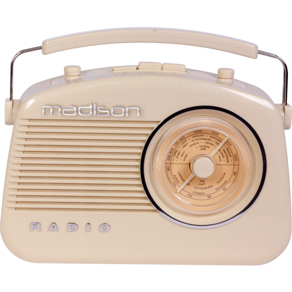 Madison MAD-VR60 Φορητό ραδιόφωνο retro με BLUETOOTH & AM/FM RADIO