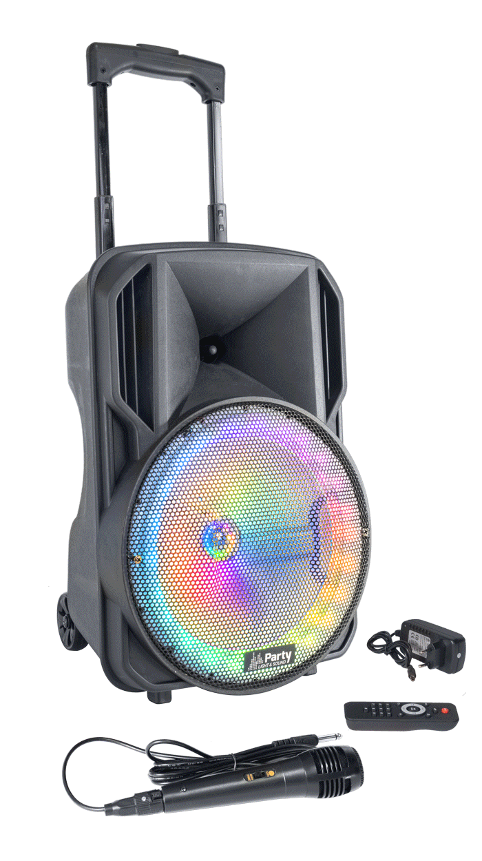 Party light and sound PARTY-10RGB Φορητό ηχείo 10''/25CM με USB, TF, BLUETOOTH, FM, MIC  REMOTE CONTROL