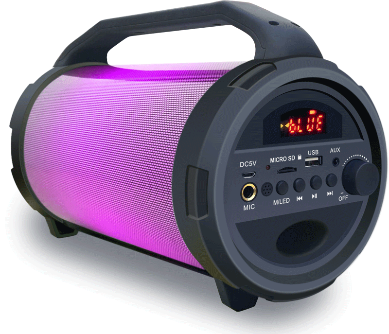 Party Light And Sound PARTY-TUBELED ασύρματο και φορητό ηχείο Bluetooth με USB,TF  MIC και φωτορυθμικά