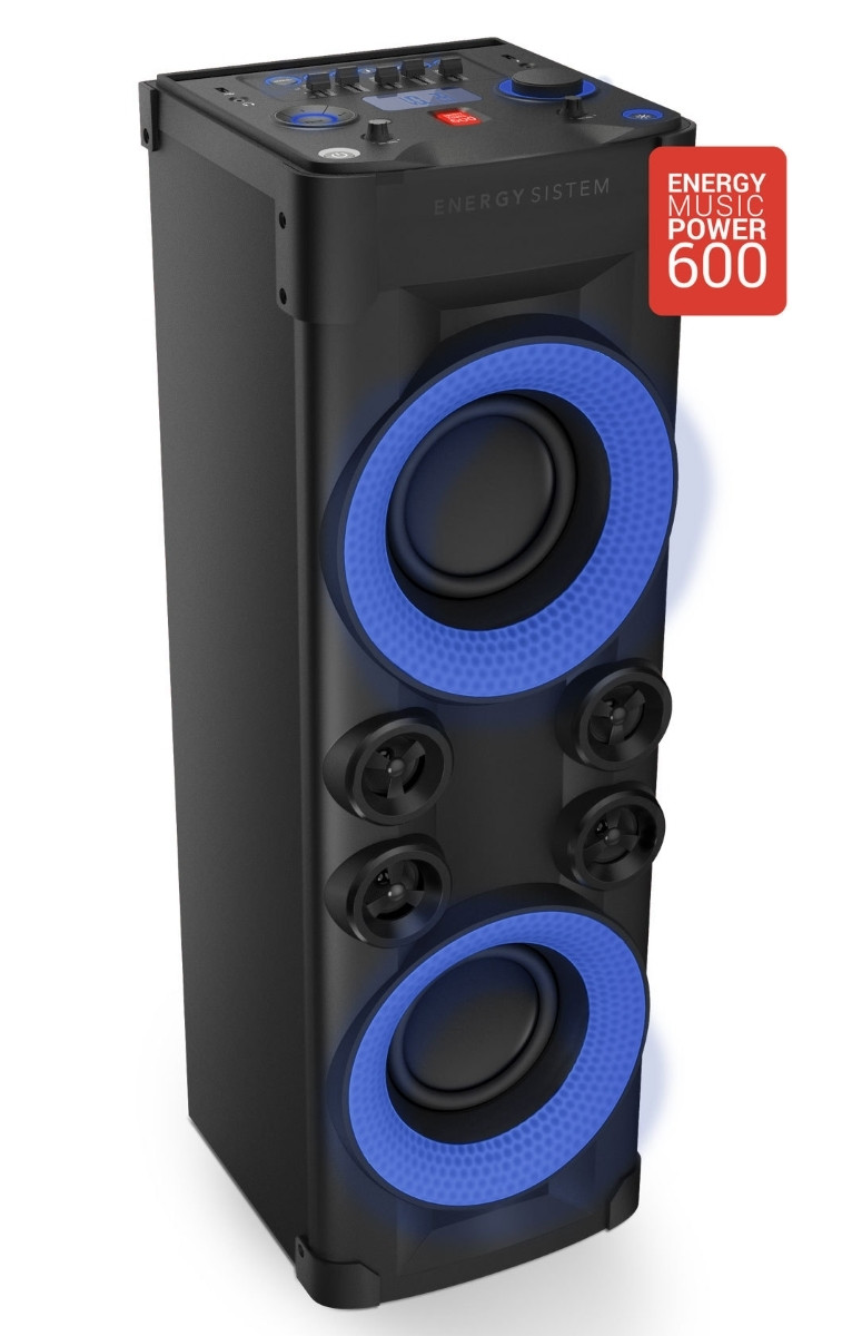 Energy Sistem Party 6 Music Power 600 Party Lights, USB Player, FM Radio Microphone, Display, Analog EQ. Ηχείο